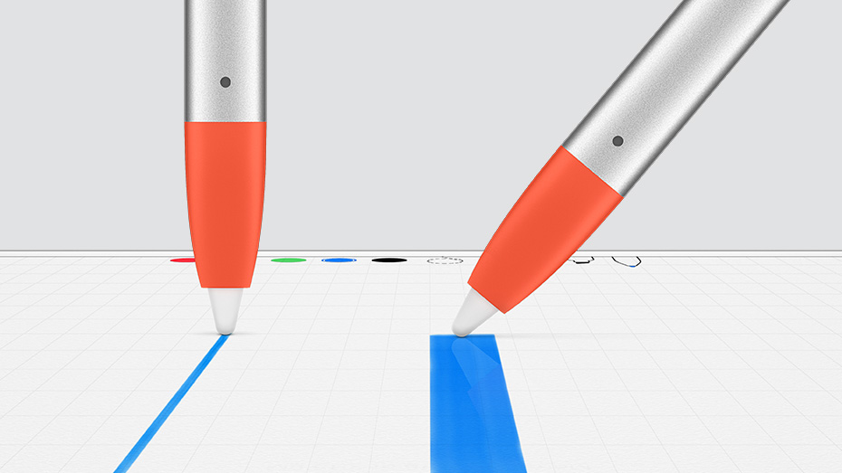 drawing straight lines with the digital pencil